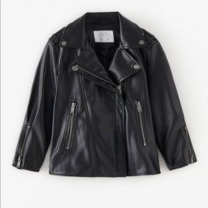 Zara faux leather biker jacket ✨SALE ✨